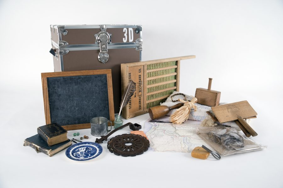 Settlement in Puget Sound Portable Museum Trunk contents